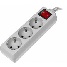 Сетевой фильтр Buro 300SL-1-G 1м (3 розетки) серый (пакет ПЭ)