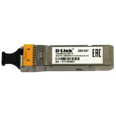 Трансивер D-Link 330T/10KM/A1A WDM SFP 1x1000Base-BX-D Tx:1550nm Rx:1310nm