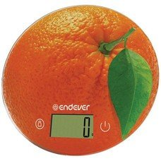 Весы кухонные ENDEVER Skyline KS-519, рисунок/апельсин