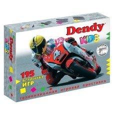 Игровая консоль Dendy Kids черный +световой пистолет в компл.: 195 игр