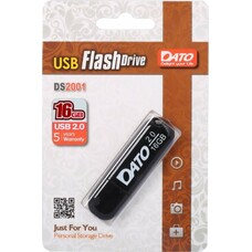 Флеш Диск Dato 16Gb DS2001 DS2001-16G USB2.0 черный