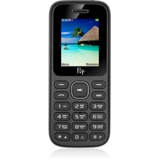 """Мобильный телефон Fly FF188 32Mb черный моноблок 2Sim 1.77"""" 128x160 Nucleus GSM900/1800 MP3 FM microSDHC max32Gb"""