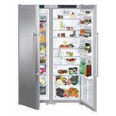 Холодильник LIEBHERR SBSesf 7212 (SGNESF 3063 + SKESF 4240),  двухкамерный,  серебристый