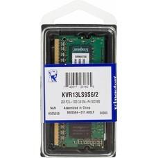 Память DDR3L 2Gb 1333MHz Kingston KVR13LS9S6/2 RTL PC3-10600 CL9 SO-DIMM 204-pin 1.35В