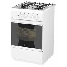 Газовая плита FLAMA RG 24019 W, газовая духовка, белый