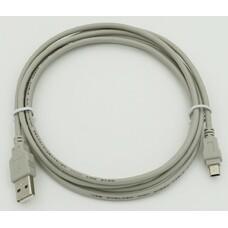 Кабель USB2.0 USB A(m) - mini USB B (m), 1.8м, серый