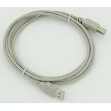 Кабель USB2.0 USB A(m) - USB B(m), 1.8м, серый