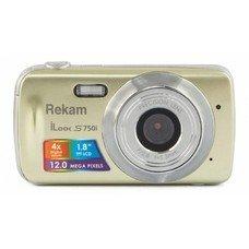Цифровой фотоаппарат REKAM iLook S750i, золотистый [1108005093]