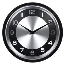 Настенные часы БЮРОКРАТ WallC-R24P, аналоговые, черный [WALLC-R24P/BLACK]