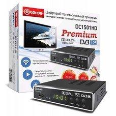 Ресивер DVB-T2 D-COLOR DC1501HD, черный