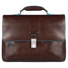 Портфель Piquadro Blue Square CA3111B2/MO коричневый натур.кожа/нейлон