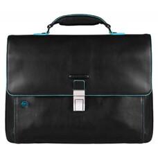 Портфель Piquadro Blue Square CA3111B2/N черный натур.кожа/нейлон