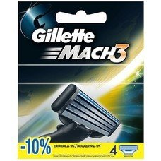 Сменные кассеты для бритья GILLETTE Mach3, 4шт [80227851]
