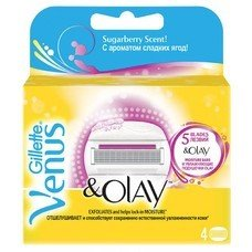 Сменные кассеты для бритья GILLETTE Venus&Olay, 4шт [80205980]