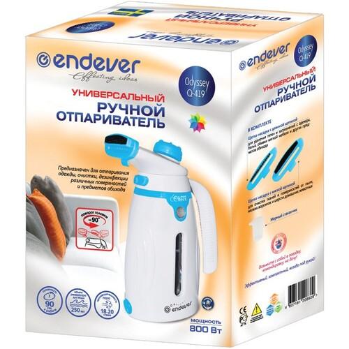 Отпариватель ENDEVER Q-419, белый / голубой [60015]