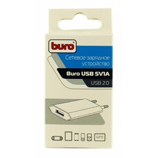 Сетевое зарядное устройство BURO TJ-164b, USB, 1A, черный [TJ-164B]