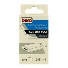 Сетевое зарядное устройство BURO TJ-164w, USB, 1A, белый [TJ-164W]