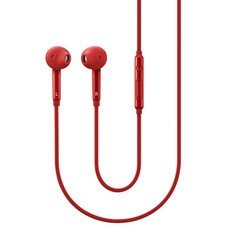 Гарнитура SAMSUNG EO-EG920L, вкладыши, красный, проводные