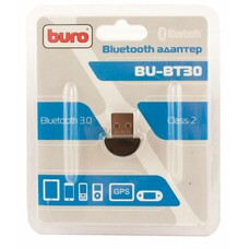 Адаптер USB Buro BU-BT30 Bluetooth 3.0+EDR class 2 10м черный