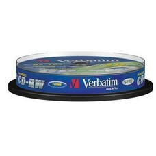 Оптический диск CD-RW VERBATIM 700Мб 10x, 10шт., cake box [43480]