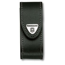 Чехол из нат.кожи Victorinox Leather Belt Pouch (4.0520.3) черный с застежкой на липучке без упаковк