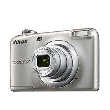 Цифровой фотоаппарат NIKON CoolPix A10, серебристый [VNA980E1]