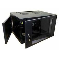 Шкаф коммутационный Lanmaster (TWT-CBWNG-6U-6X6-BK) 6U 550x600мм пер.дв.стекл 60кг черный