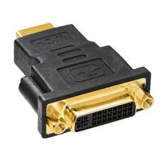 Переходник DVI BURO DVI (f) - HDMI (m), черный [hdmi-19m-dvi-d(f)-adpt]