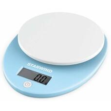 Весы кухонные STARWIND SSK2256, голубой