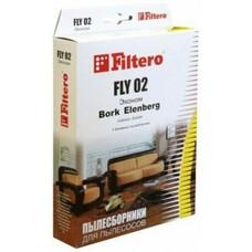 Пылесборники FILTERO FLY 02 Эконом,  бумажные,  4