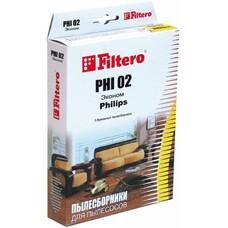 Пылесборники FILTERO PHI 02 Эконом, бумажные, 3