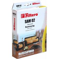 Пылесборники FILTERO SAM 02 Эконом, бумажные, 4