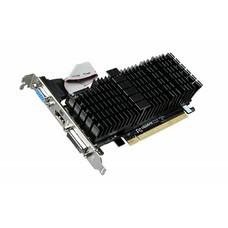 Видеокарта GIGABYTE nVidia GeForce GT 710 , GV-N710SL-1GL, 1Гб, DDR3, Low Profile, Ret