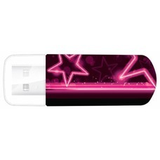 Флешка USB VERBATIM Mini Neon Edition 16Гб, USB2.0, розовый и рисунок [49396]