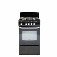 Газовая плита DE LUXE 5040.38г, газовая духовка, черный [5040.38г черн.]