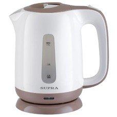 Чайник электрический Supra KES-1724 1.7л. 2200Вт белый/бежевый (корпус: пластик)