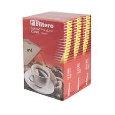 Фильтры для кофе FILTERO №4, для кофеварок, бумажные, 1х4, 240 шт, коричневый [4/240]