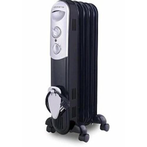 Масляный радиатор POLARIS CR 0512B, 1200Вт, черный