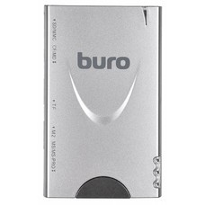 Картридер внешний BURO BU-CR/HUB3-U2.0-1012, серебристый
