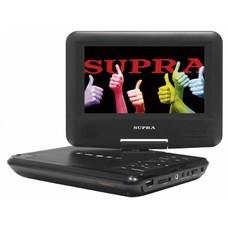 """Портативный Плеер Supra SDTV-726U 7""""/480x234/поворотный экран/DVD/CD серый"""