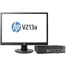 Комплект HP 260 G2 Mini Cel 3855U (1.6)/4Gb/500Gb/HDG510/Windows 10 Single Language 64/GbitEth/WiFi/BT/клавиатура/мышь/черный/монитор в комплекте 20.7