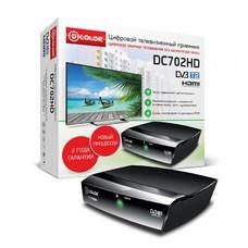Ресивер DVB-T2 D-COLOR DC702HD, черный