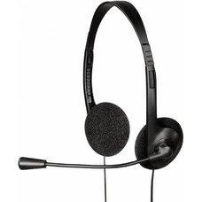 Наушники с микрофоном HAMA HS-101, накладные, черный [00053999]