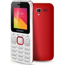 Мобильный телефон GINZZU M102D mini, белый/красный