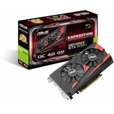 Видеокарта Asus PCI-E EX-GTX1050TI-O4G nVidia GeForce GTX 1050TI 4096Mb 128bit GDDR5 1341/7008 DVIx1/HDMIx1/DPx1/HDCP Ret