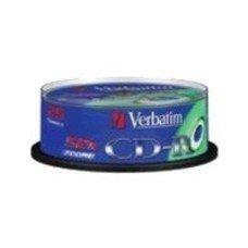 Оптический диск CD-R VERBATIM 700Мб 52x, 25шт., cake box [43432]