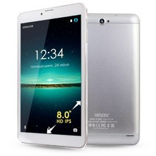 "Планшет Ginzzu GT-8005 SC7731 (1.3) 4C/RAM1Gb/ROM8Gb 8"" IPS 1280x800/3G/Android 6.0/серебристый/5Mpix/5Mpix/BT/GPS/WiFi/Touch/microSDHC 32Gb/minUSB/4000mAh"