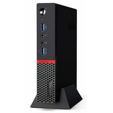 Компьютер LENOVO ThinkCentre M600 TINY, Intel Celeron J3060, DDR3 2Гб, 500Гб, Intel HD Graphics 400, noOS, черный [10gb000qru]