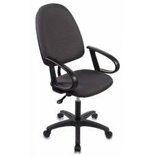 Кресло БЮРОКРАТ CH-1300, на колесиках, ткань, темно-серый/черный [ch-1300/grey]