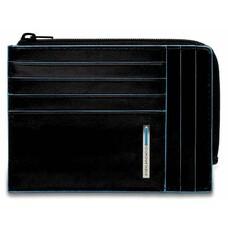 Чехол для кредитных карт Piquadro Blue Square PU1243B2R/N черный натур.кожа